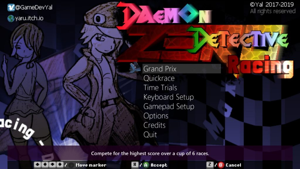 Daemon Detective Racing Zero_タイトル